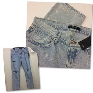 Hudson Men Blake Slim Straight Destroyed Jeans NWT